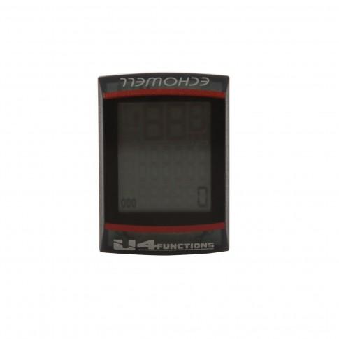 Vitezometru pentru bicicleta Echowell U4, impermeabil, 4 functii, gri transparent