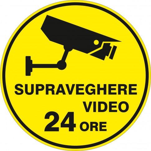 Indicator semnalizare supraveghere video Creative sign, autocolant, forma rotunda, diametru 15 cm