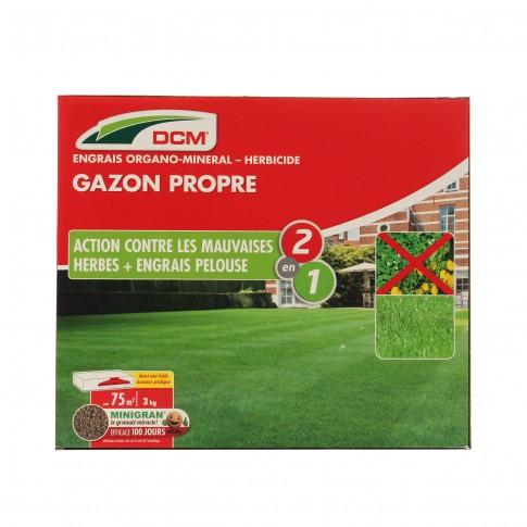 Ingrasamant pentru gazon + erbicid DCM, N-P-K (9-3-6), granule, 3 kg