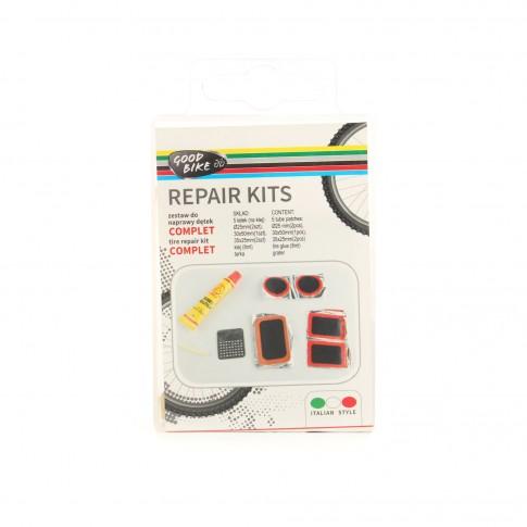 Kit complet reparare anvelopa pentru bicicleta Good Bike, plastic  cauciuc + adeziv