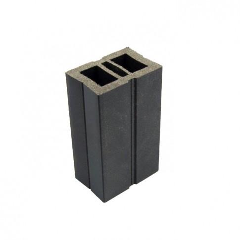 Sina WPC pentru dusumea din lemn compozit, gri, 6 x 4 x 300 cm