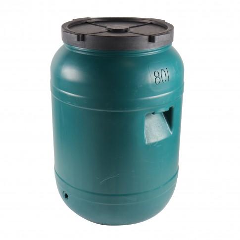 Bidon Dolplast, verde, plastic, cu capac, 80L