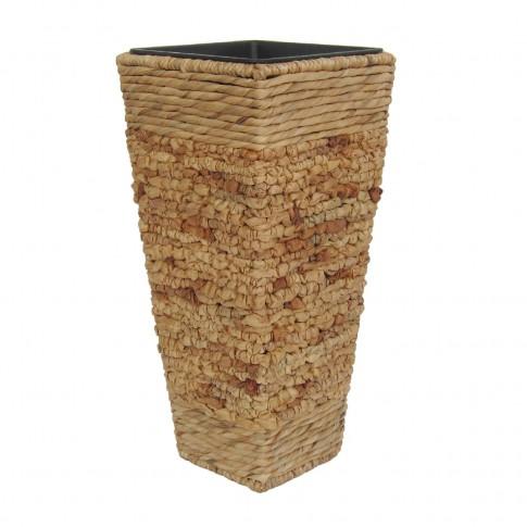 Ghiveci din materiale naturale, CM 6013401, 28 x 28 x 60 cm