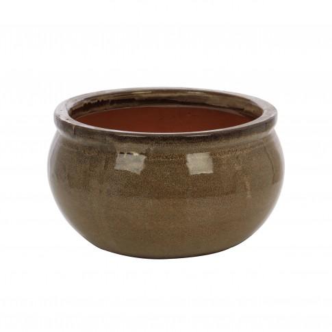 Ghiveci ceramic 21237 C, rotund, 33 x 18 cm