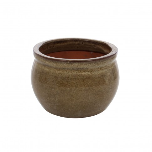 Ghiveci ceramic 21237 C, rotund, 15 x 13 cm