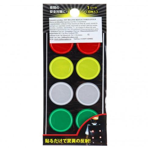 Buline reflectorizante multicolore, 8 buc