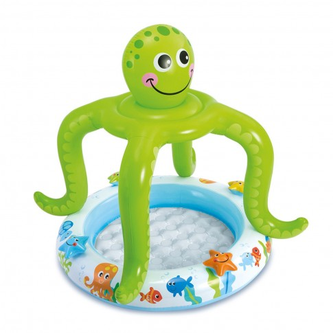 Piscina gonflabila Intex Octopus Baby 57115NP, pentru copii, 102 x 104 cm