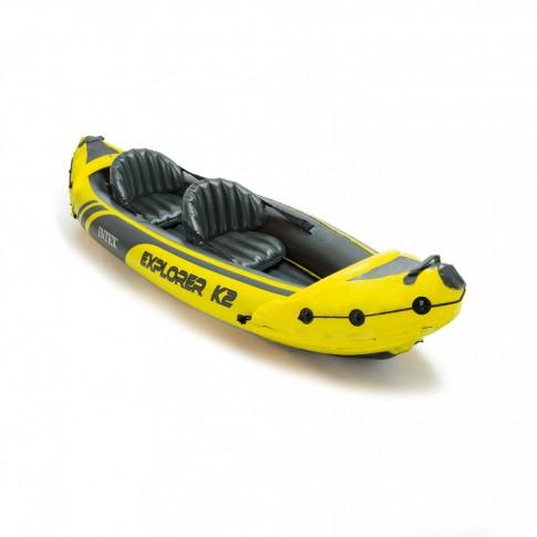 Set kayak gonflabil/ pneumatic Intex 68307NP Explorer K2, pentru 2 persoane + vasle