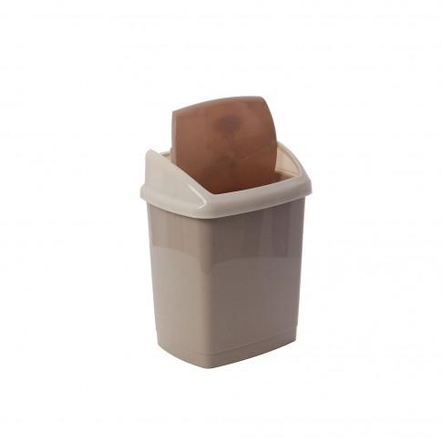 Cos gunoi Agora Plast din plastic, forma dreptunghiulara, diverse culori, cu capac batant, 9L