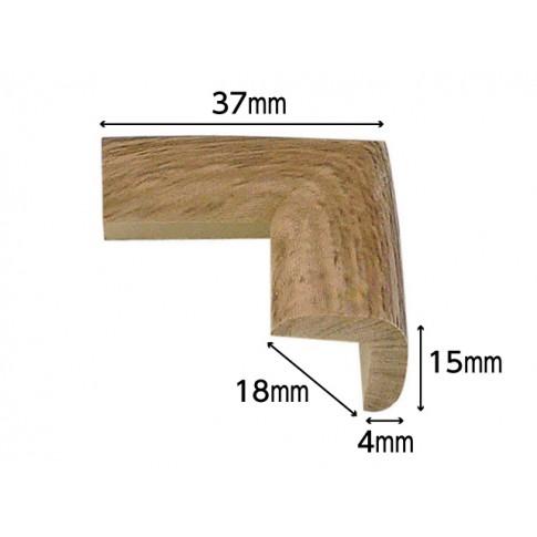 Coltar protector din spuma de cauciuc AC-136,foarte subtire, lemn inchis, grosime 4 mm