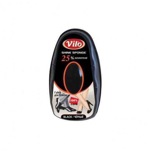 Burete stralucire pantofi Vilo, negru, 8 ml