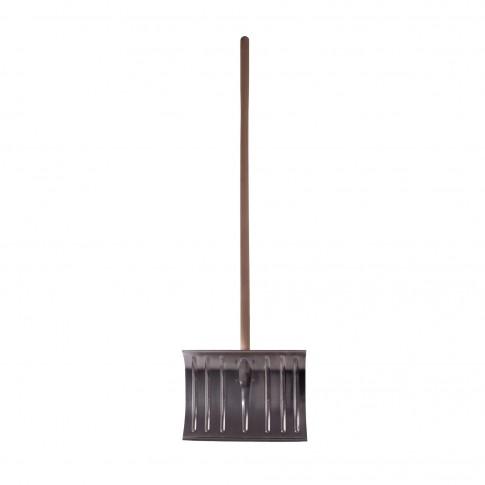 Lopata pentru zapada, aluminiu, cu coada lemn