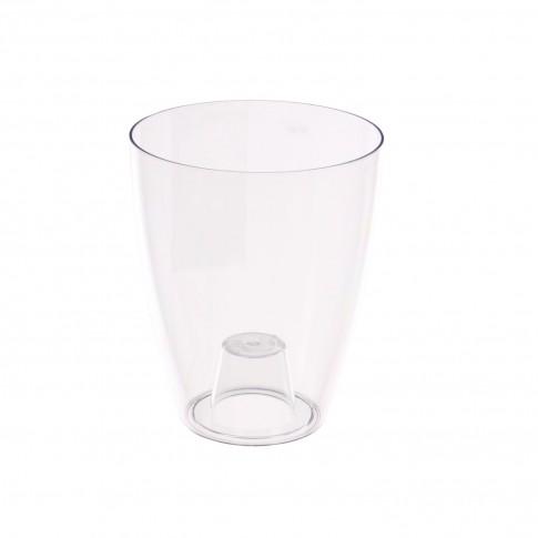 Ghiveci din plastic, pentru orhidee, Miltonia Crystal, transparent, D 13.3 cm