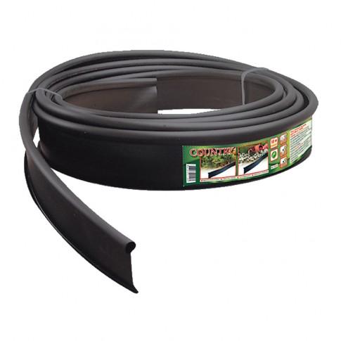 Separator gazon Country, plastic, negru, 10 cm x 10 m