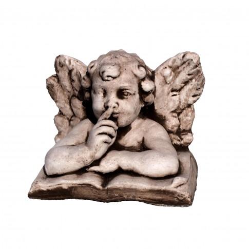 Statuie ingeras, decoratiune gradina, beton, 25 x 16 x 18 cm