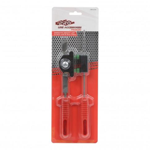 Pila pentru ascutire lant, Prorun, cu maner plastic, 4 mm, set 2 bucati