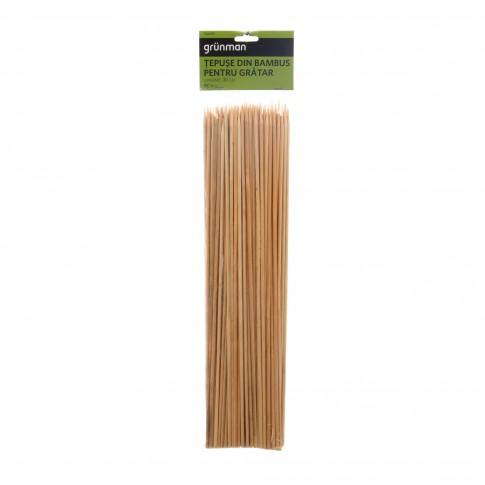 Tepuse pentru gratar Grunman KY5065, bambus, 30 cm, set 100 buc