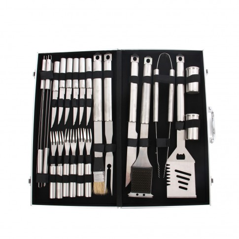 Set 24 accesorii pentru gratar premium Grunman KY104, otel inoxidabil