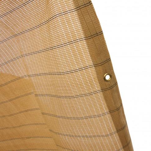 Plasa protectie vizuala Havana, polietilena, bej, 5 x 1.5 m