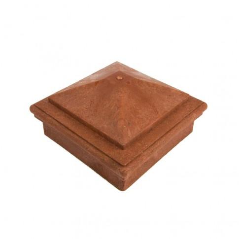 Capac piramidal stalp WPC 90 x 90 mm R, maro roscat