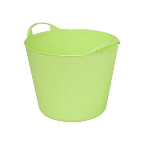 Galeata flexibila ArtPlast Flex Bag, verde, cu 2 manere, 32 cm, 15L