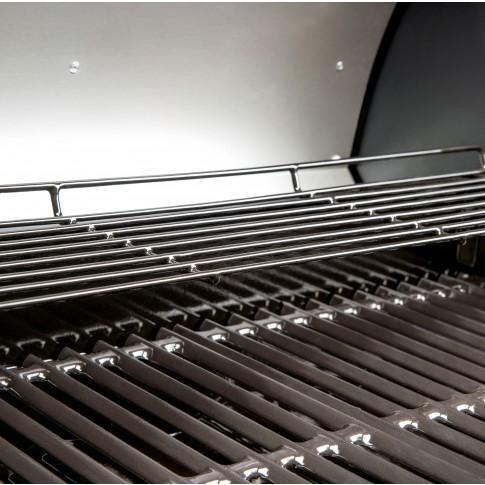 Gratar gradina, pe gaz, Rexon 4.1, 4 arzatoare, metal, 69 x 40 cm, 12 kW, cu roti deplasare