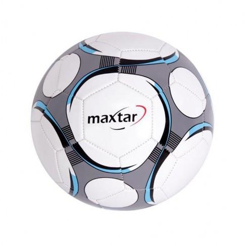 Minge pentru fotbal nr 5, Maxtar, PVC, alb si gri
