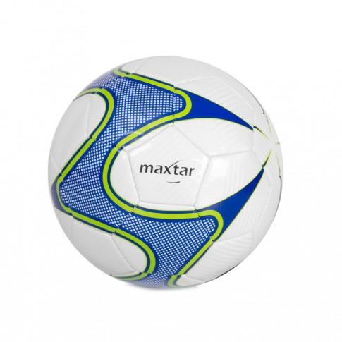 Minge fotbal nr 5, Maxtar, PVC, alb si albastru