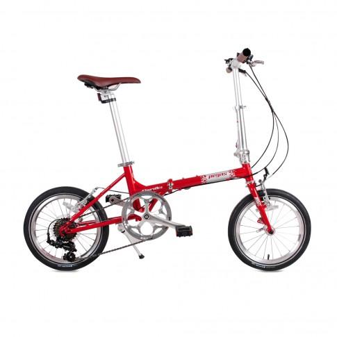 Bicicleta pliabila Pegas Teoretic 7S rosu mat