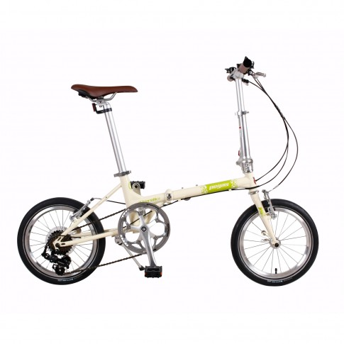 Bicicleta pliabila Pegas Teoretic 7S crem inghetata