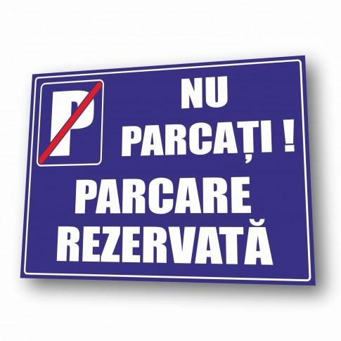 Indicator parcare rezervata Creative sign, PVC, forma dreptunghiulara, 40 x 30 cm