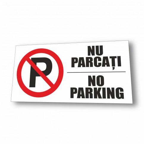 Indicator parcare interzisa Creative sign, PVC, forma dreptunghiulara, 40 x 20 cm