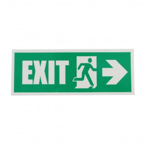 Indicator luminescent Exit Dreapta, autocolant reflectorizant, 19.5 x 7.5 cm