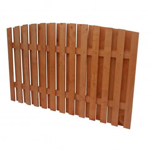 Gard lemn, Rustic, pentru gradina, solid, 200 x 140 cm