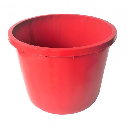 Butoi / cada plastic Dolplast, fara capac, 500 litri, rosu D 104 cm