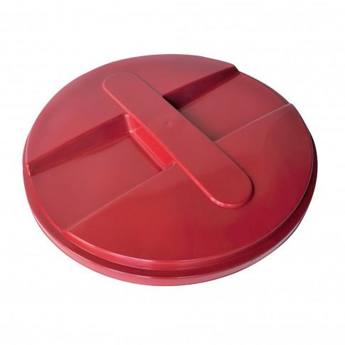 Capac pentru butoi 500 litri Dolplast, polietilena, rosu, D 104.5 cm