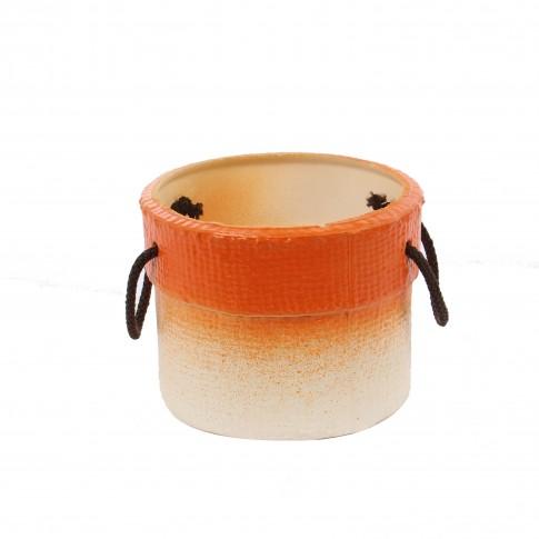 Ghiveci ceramic Masca 2, rotund, 16 x 12 cm