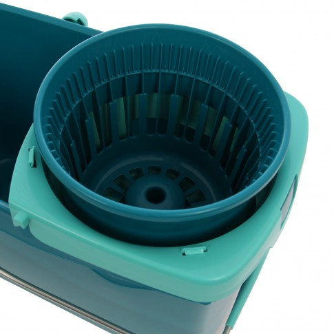 Mop Leifheit Clean Twist System 52014 + coada telescopica cu sistem centrifugare + galeata cu separator, 20L