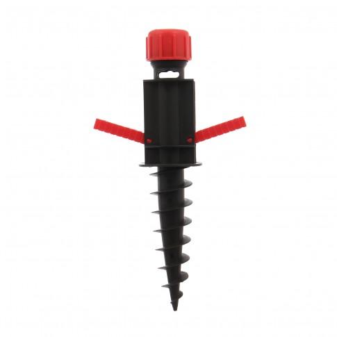 Suport umbrela TPH001, PVC, pentru nisip, H 38 cm
