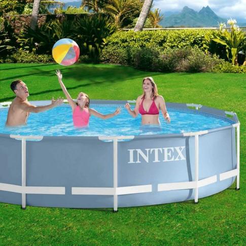 Piscina cu cadru metalic, Intex 28712NP, rotunda, cu pompa de filtrare, 366 x 76 cm