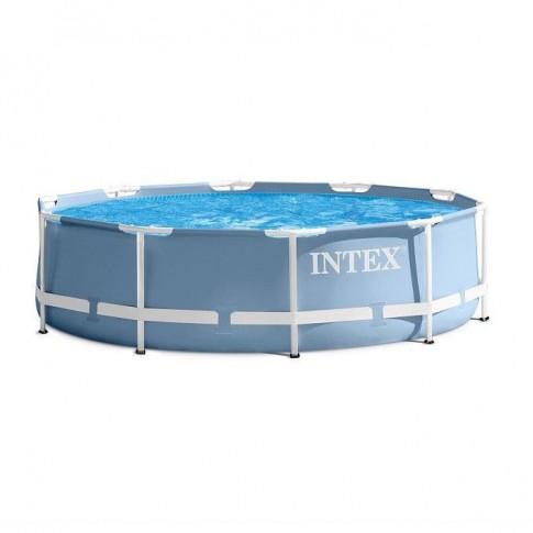 Piscina cu cadru metalic Intex 26736NP, rotunda, cu pompa de filtrare, 457 x 122 cm