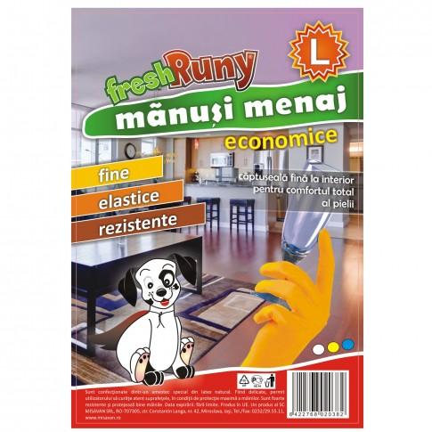 Manusi menaj Misavan FreshRuny, marimea L, latex, portocaliu