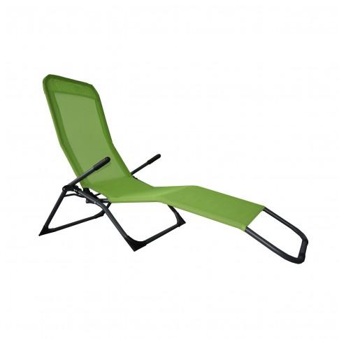 Sezlong plaja Siesta BE-001, pliabil, structura metal, 195 x 58 x 98 cm