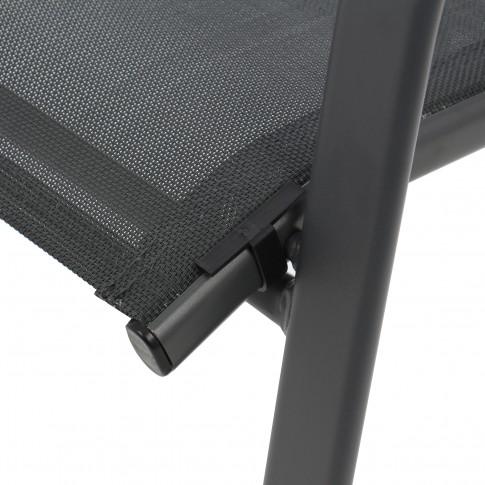 Scaun pentru gradina, BE-002, metal + textilen