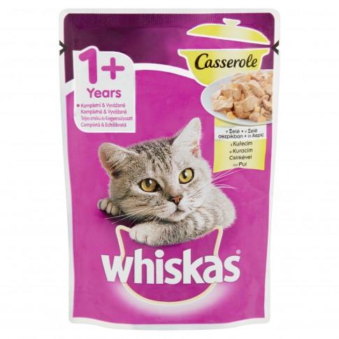 Hrana umeda pentru pisici, Whiskas Casserole, adult, carne de pui, 85g