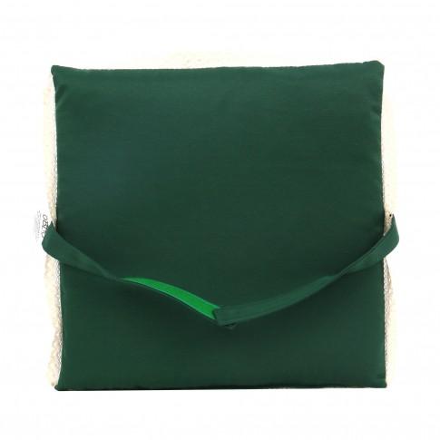 Perna pentru sezut, Tosca, verde, bumbac + poliester, 40 x 40 x 3 cm