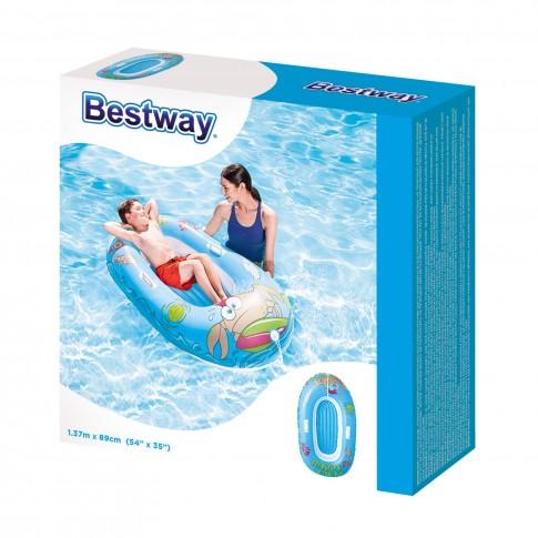 Barca gonflabila pentru copii Bestway 34009, vinil, 137 x 89 cm