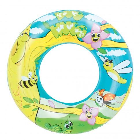 Colac gonflabil pentru inot, copii, Bestway 36013, D 56 cm