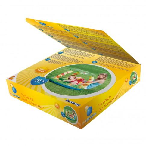 Piscina gonflabila, pentru copii, Bestway Jungle 52179, cu protectie solara