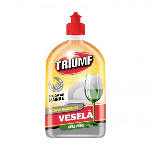 Detergent lichid pentru vase Triumf, aroma ceai verde, 500 ml